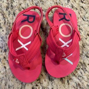 Pink flip flops sandals girls 7